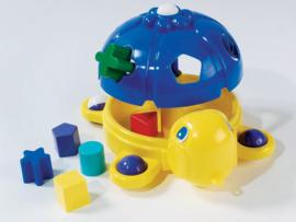 Vormenstoof Schildpad Blauw