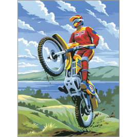 Verven op nummer Motorcross Royal & Langnickel