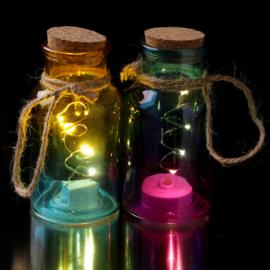 Glazen pot met LED verlichting klein