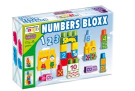 Doos met blokken Nummers 34 stuks