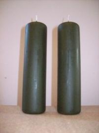 Cilinderkaars Olijfgroen 1stuks