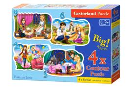4 Delige puzzel set Sprookjesachtige liefde Castorland B-005093
