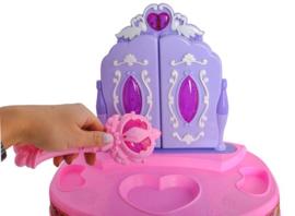 Kaptafel met 3 spiegels roze
