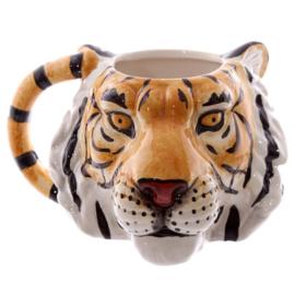 Keramiek mok tijger hoofd