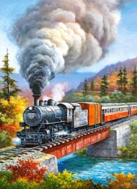 Trein op de brug, Train crossing Castorland B-222070