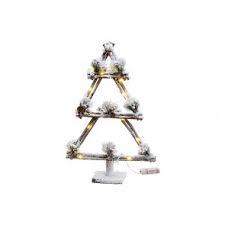 Kerstboom van hout met verlichting