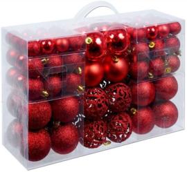 Kerstballen 100 stuks rood
