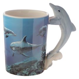 Keramiek mok Dolfijn Lisa Parker