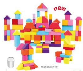 Blokken speelset 100 delig Bino 84203
