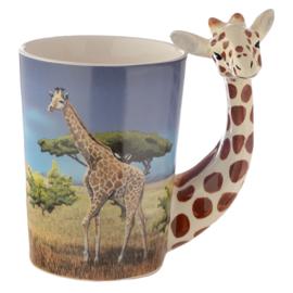 Keramiek mok Giraffe Savanne vlakte