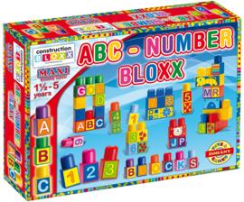 Doos met blokken Cijfers en Letters 64 stuks