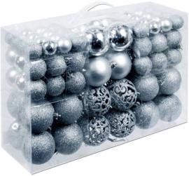 Kerstballen 100 stuks zilver