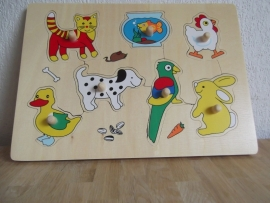 Plug puzzel Huisdieren 7 stukjes