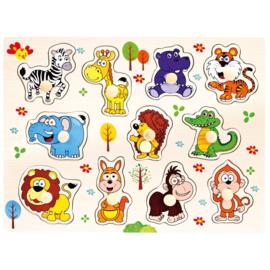 Plug puzzel dieren Bino 88116