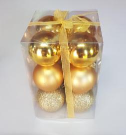 Kerstballen set 12 stuks Ø 5cm in 3 kleuren