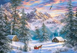 Mountain Christmas, Kerst berg, Castorland C-104680-2