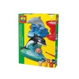 SES Figuren gieten en schilderen Dolfijn