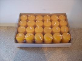 Cilinderkaarsen tray 24 stuks Amber (8205)