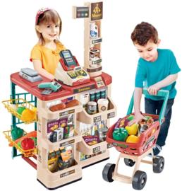 Supermarkt met winkelwagen 48 delig