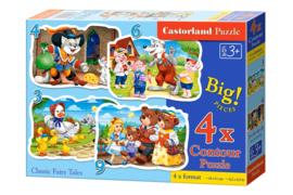 4 Delige puzzel set Klassieke Sprookjes Castorland B-005086