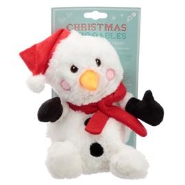 Magnetron Knuffel, Pitten Knuffel Sneeuwpop Kerst