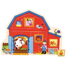 Puzzel boerderij 13 delig Bino 88118