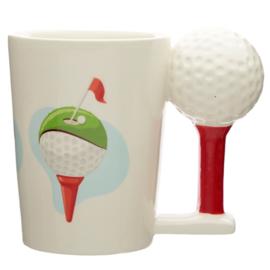 Keramiek mok Golfbal op Tee