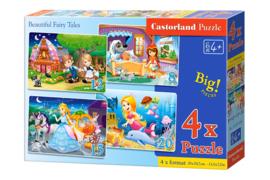4 Delige puzzel set Prachtige Sprookjes Castorland B-041008
