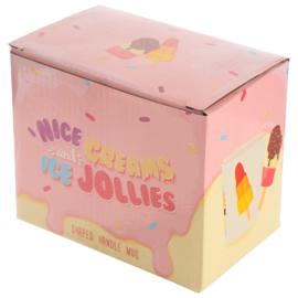 Keramiek mok Ijs Lollie met Chocola