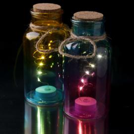 Glazen pot met LED verlichting Medium