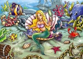 De kleine Zeemeermin 150 stukjes