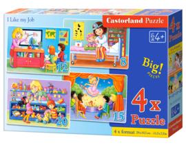 4 Delige puzzel set Ik hou van mijn baan Castorland B-041022