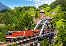 Trein op de brug Castorland B-52462