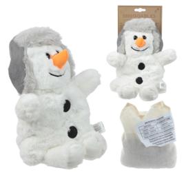Magnetron knuffel, pitten knuffel Sneeuwpop