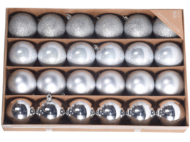 Kerstballen set 24 stuks