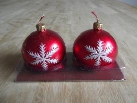 Set van 2 kerstbal kaarsen.