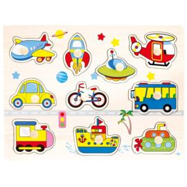 Plug puzzel voertuigen Bino 88115