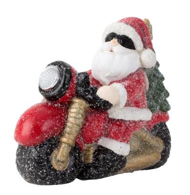 Kerstman op de motor