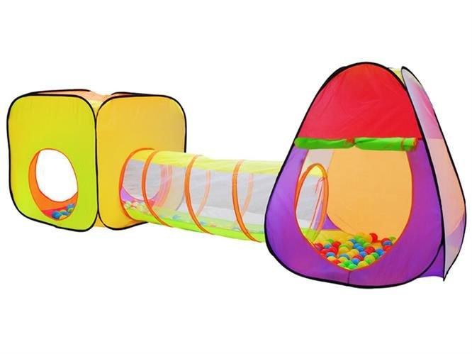 Speeltent Iglo met tunnel met 200 ballen