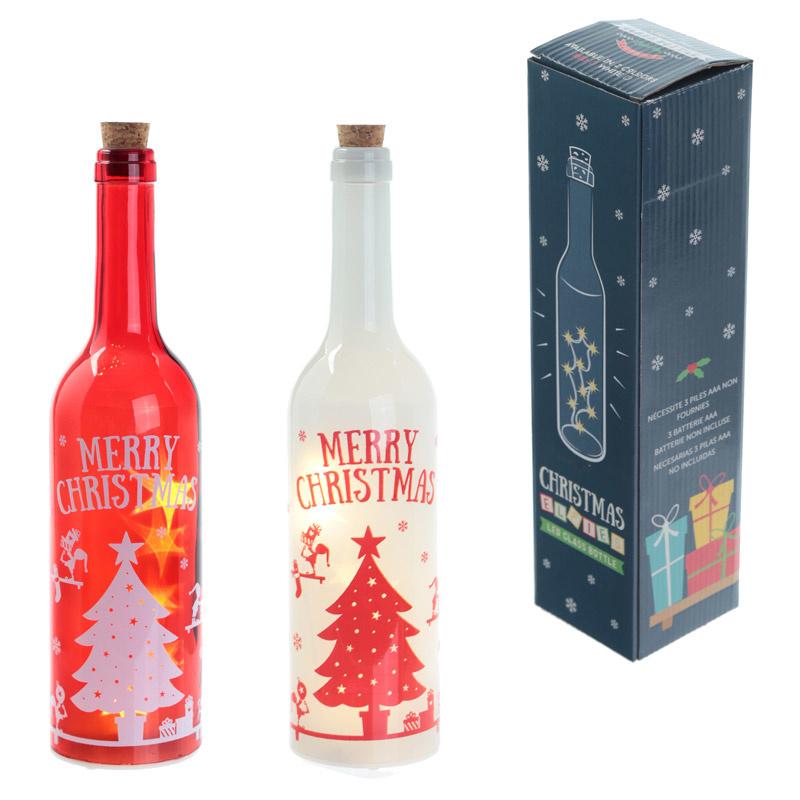 Fles met LED verlichting Kerstmis