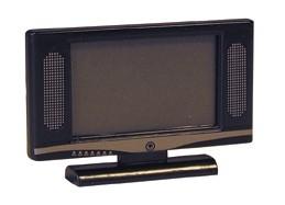 01823 Flatcreen TV, zwart. (AT)