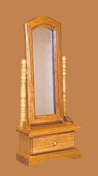 01174 Staande spiegel, eiken. (11)