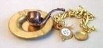 00642 Pijp, asbak en horloge. (AE) (XH7072)