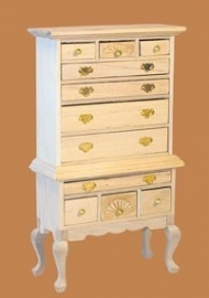 00159 Highboy, blankhout. (56)