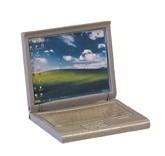 00706 Laptop, zilvergrijs. (AT)