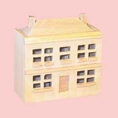 00181 Poppenhuisje voor de pop, blankhout. (41)