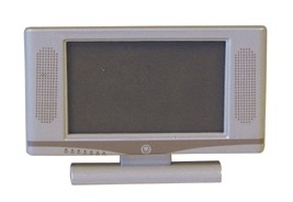 01822 Flatscreen TV, zilver. (AT)