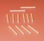 00627 Witte kaarsen, 10 stuks. (AR)
