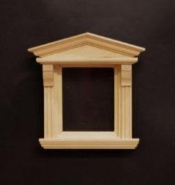 01707 Victoriaans raam, blankhout (C)