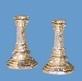 03108 Kaarsenhouders zilver, per 2. (AR)